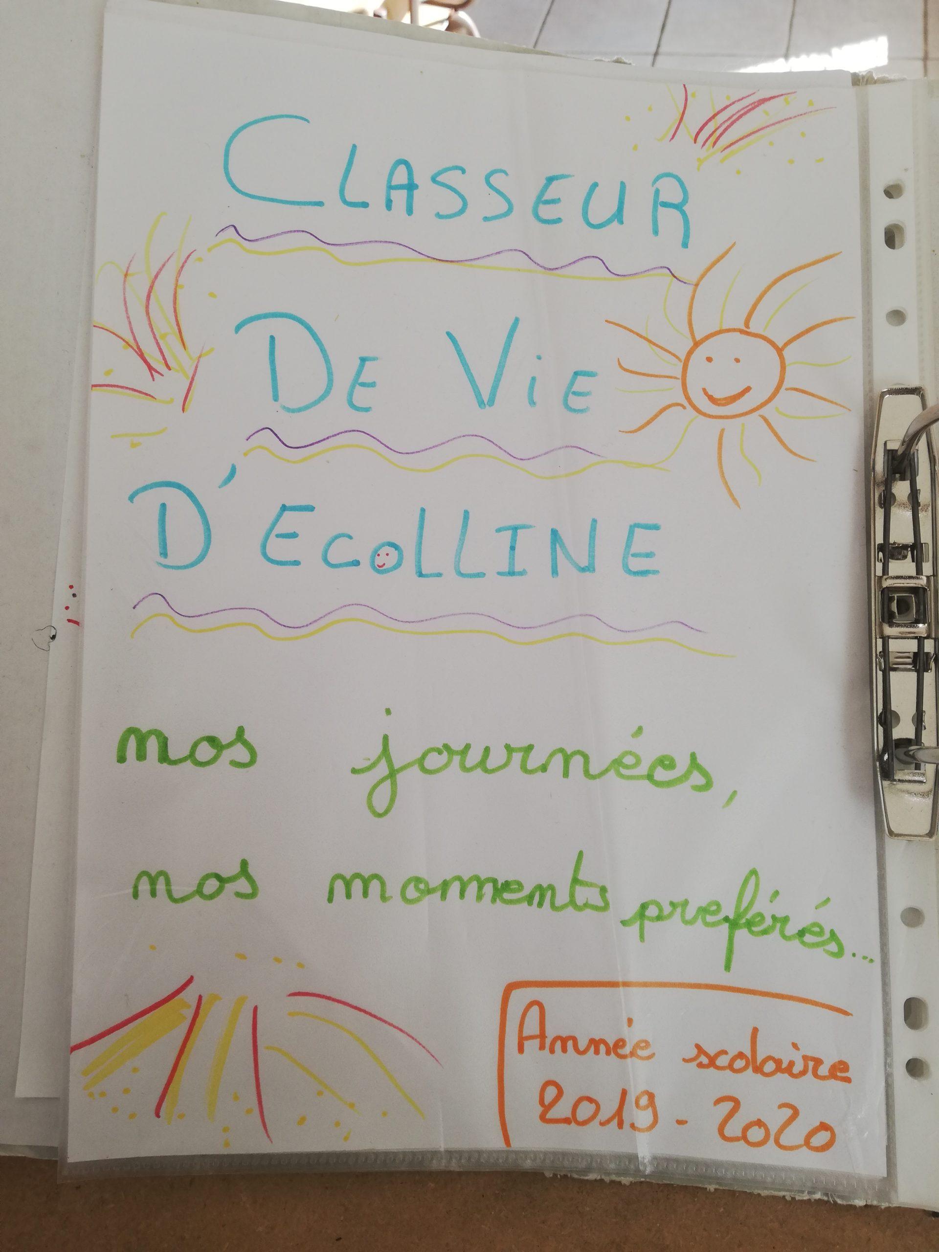 Classeur de  vie d' Ecolline